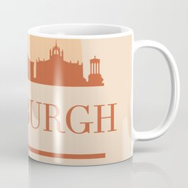 EDINBURGH SCOTLAND CITY SKYLINE EARTH TONES Coffee Mug