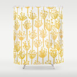 Golden Dandelions Shower Curtain