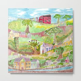Village Idyllic Metal Print