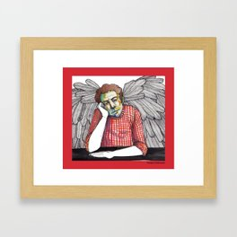 A moment of rest for my guardian angel  Framed Art Print