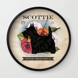 Scottie Seed Packet Artwork by Stephen Fowler Wall Clock