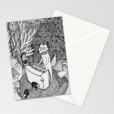 Fox Piano Stationery Cards