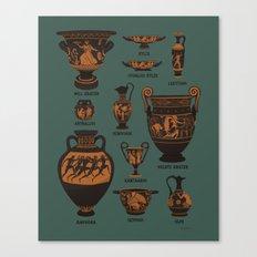 Ancient Greek Pottery Canvas Print