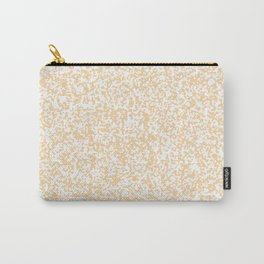 Tiny Spots - White and Sunset Orange Carry-All Pouch