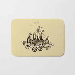 Viking ship 2 Bath Mat