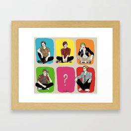 """"""" Rainbow band """" Framed Art Print"""