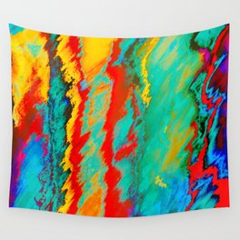 Yellow, Red, Blue Abstract Wall Tapestry