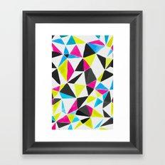 watercolor geometry CMYK Framed Art Print