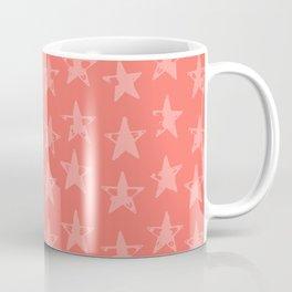 Coral Star Field Coffee Mug