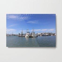 Steveston Fishing Harbour Metal Print