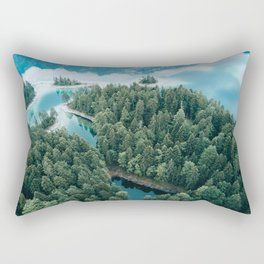 Mountain in a Lake - Landscape Photography Rectangular Pillow