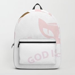Jesus coffee cats Christian shirts women gifts. God is good. T-Shirt Backpack
