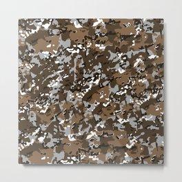 Brown Multicamo Camouflage Pattern Metal Print