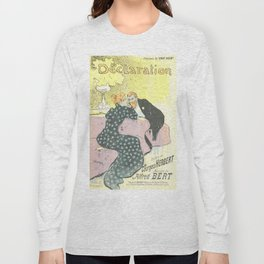 "Théophile Steinlen ""Sheet music Déclaration by Georges Herbert and Alfred Bert"" Long Sleeve T-shirt"