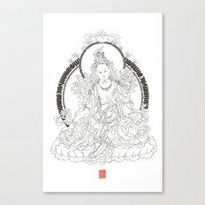 Chaktsal Dolma 21 - Prayer for 21 Tara Canvas Print