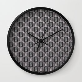 Rock Totem Wall Clock