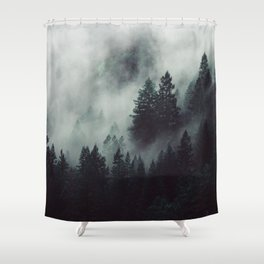 Rain in the forest Shower Curtain