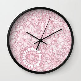 Grand floral pink Wall Clock