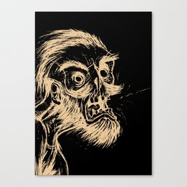 HIPSTER ZOMBIE PRINT -  He was a zombie before it was cool Canvas Print