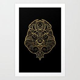 Leo Gold Art Print