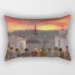 Les Amis ▬ Paris rooftops Rectangular Pillow