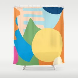 Colorful Modern Abstract Shower Curtain