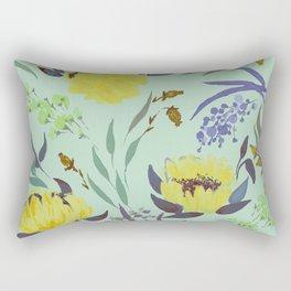 hand draw watercolor floral pattern design Rectangular Pillow