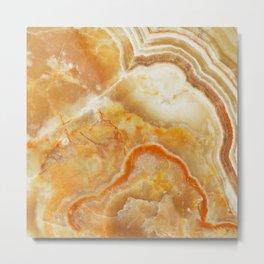 Brown Marble Stone Print Metal Print
