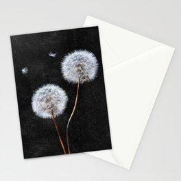 Black Dandelion Stationery Cards