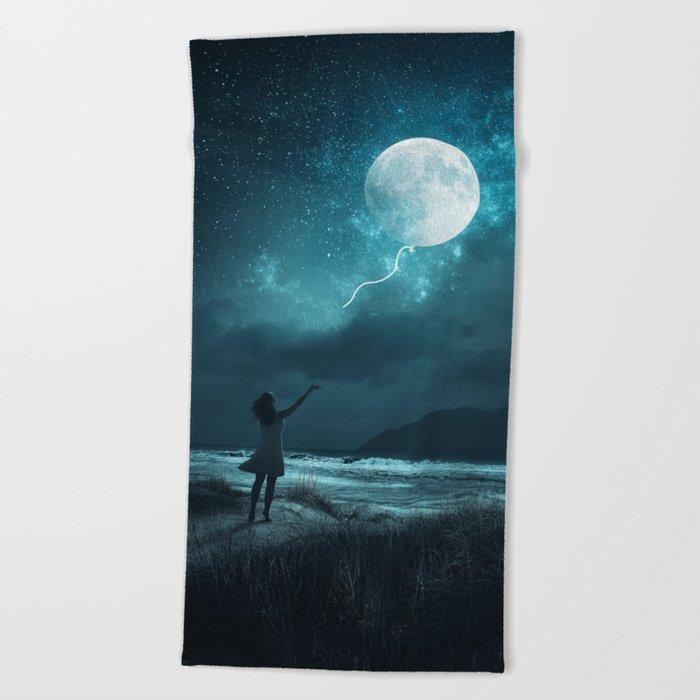 MOON BALLOON Beach Towel