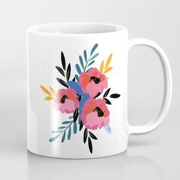 Pink Blue Floral Coffee Mug