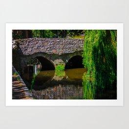 Bridge over untroubled waters Art Print