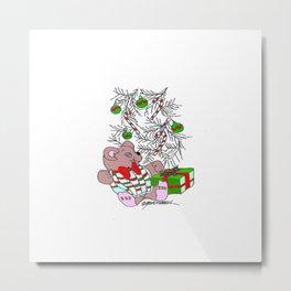 Teddy Christmas Metal Print