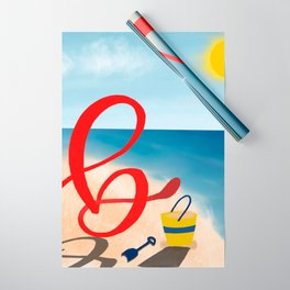 Baby B at the Beach Wrapping Paper