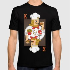 Burger King LARGE Black Mens Fitted Tee