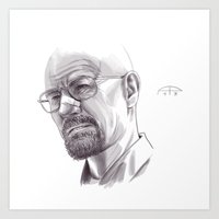 walter white Art Prints featuring Walter White by Alessia Pelonzi