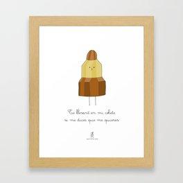 Postales Botellita de leche - Cohete Framed Art Print