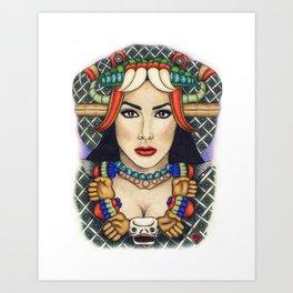 Diosa Coatlicue Art Print