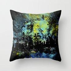 floral city gardener Throw Pillow