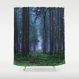 Green Magic Forest - Landscape Nature Photography Shower Curtain