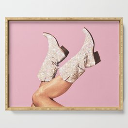These Boots - Glitter Pink Serving Tray