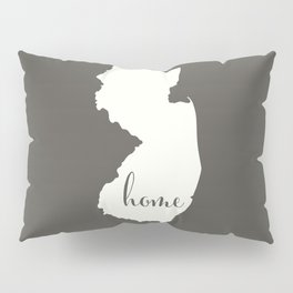New Jersey is Home - White on Charcoal Pillow Sham