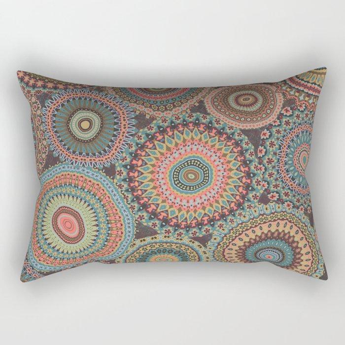Boho Patchwork-Vintage colors Rectangular Pillow