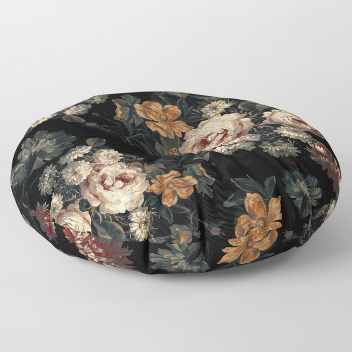 Midnight Garden XIV Floor Pillow