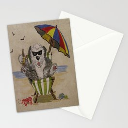 Sheepie at beach 1 Stationery Cards