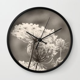 Lace in the Meadow BW II Wall Clock