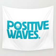 Positive Waves (Blue) Wall Tapestry