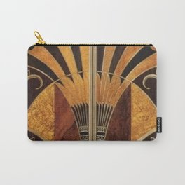 art deco wood Carry-All Pouch