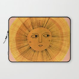 Sun Drawing Gold and Pink Laptop Sleeve