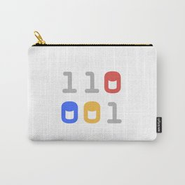 We All Code - Binary Carry-All Pouch